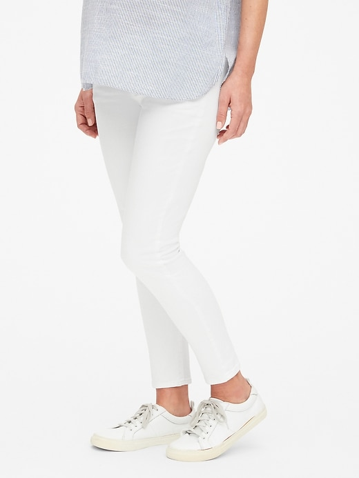 Maternity Demi Panel True Skinny Ankle Jeans
