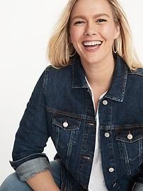 Classic Plus-Size Jean Jacket