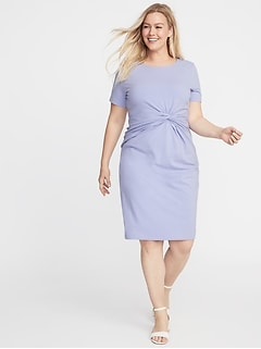 Plus-Size Twist-Front Bodycon Dress d9bbbda3030d