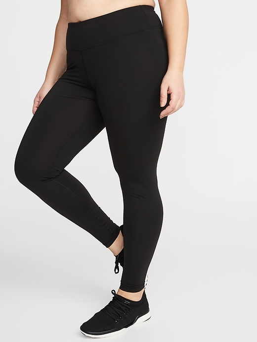 High-Waisted Elevate Compression Plus-Size Leggings