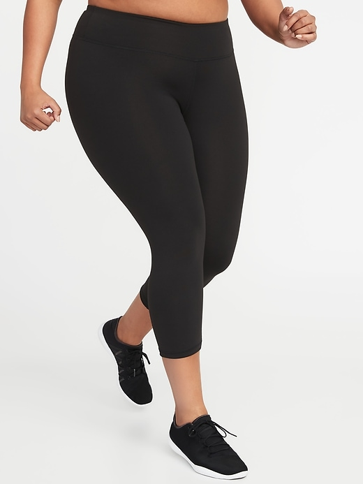 High-Waisted Elevate Compression Plus-Size Crops
