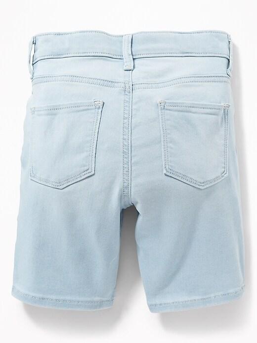 Ballerina Light-Wash Jean Bermuda Shorts for Girls