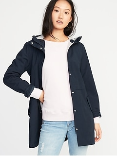 Water-Resistant Hooded Anorak for Women a82c4df186