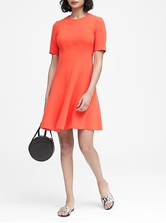 Paneled Fit-and-Flare Dress c806adbac