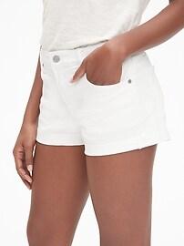 """Mid Rise 3"""" Denim Shorts"""