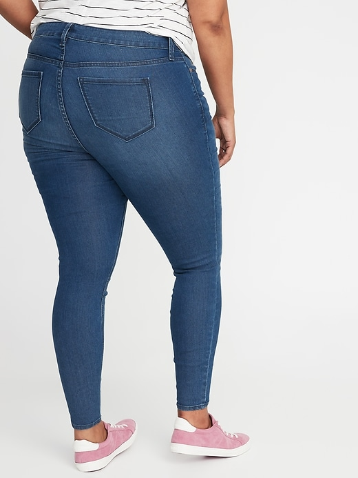 Mid-Rise Plus-Size Super Skinny Ankle Jeans
