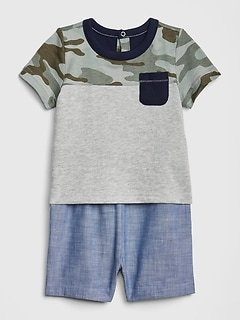 Sporting Baby Gap Designer Baby Boys Shorts Age 3-6 Months Denim Blue Clothing, Shoes & Accessories