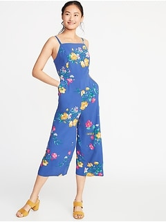 9b3235c540c Square-Neck Cami Jumpsuit for Women