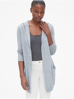 80a9281cef1 Longline Hooded Cardigan Sweater