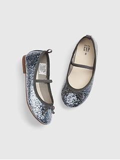 2be12a99b Toddler Glitter Ballet Flats