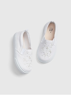 52f7c3944ea1 Toddler Embroidered Slip-On Sneakers
