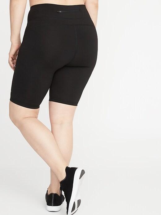 Plus-Size Compression Bermuda Shorts -10-inch inseam