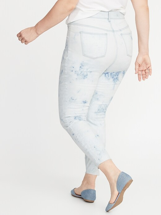 High-Waisted Secret-Slim Pockets Dip-Dye Rockstar Plus-Size Super Skinny Ankle Jeans