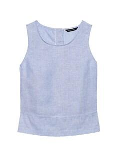 0427565e67 Linen-Cotton Button-Back Tank
