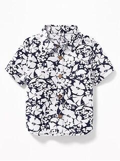 83507d6a1af8e Patterned Poplin Shirts for Baby
