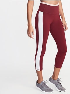 a23f3900623fc High-Rise Elevate Side-Stripe Compression Crops for Women