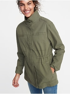2734e06db09fca Canvas Field Jacket for Women