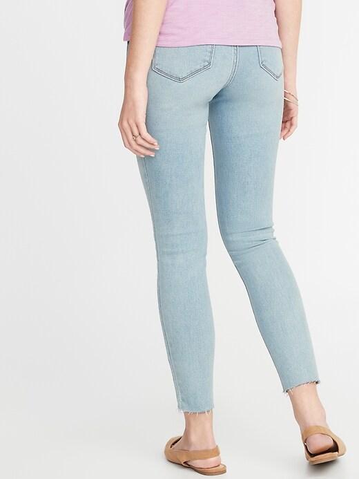 Maternity Premium Full Panel Rockstar Raw-Edge Jeans
