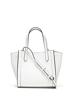 c86e2c34f3f2 Italian Leather Mini Tailored Tote Bag