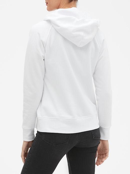 Flag Gap Logo Zip Hoodie In Fleece