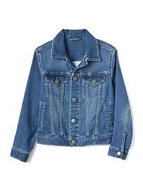 갭 GAP Kids Icon Supersoft Denim Jacket,medium wash