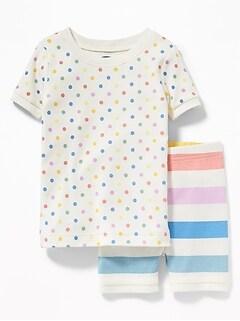 Multi-Color Polka Dot   Stripe Sleep Set for Toddler Girls   Baby c70fc955e
