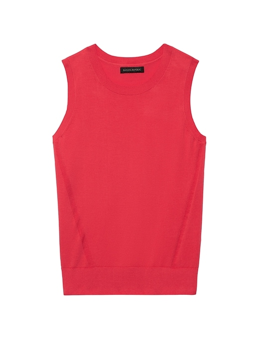Stretch-Cotton Sweater Shell