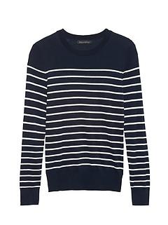57807d3bcc Silk Cotton Crew-Neck Sweater