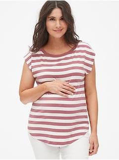 edbe3d2afde9d Maternity Dolman Cap Sleeve T-Shirt