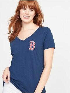 3641c3dde99 MLB  174 Team Front   Back Graphic V-Neck Tee for Women