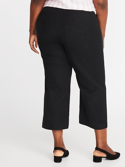 High-Waisted Secret-Slim Plus-Size Wide-Leg Chinos