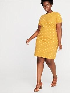 f67de447115 Printed Ponte-Knit Plus-Size Sheath Dress