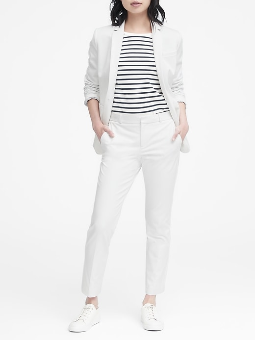 Petite Long and Lean-Fit Washable Blazer