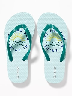 1e9193aae472 Printed Flip-Flops for Girls