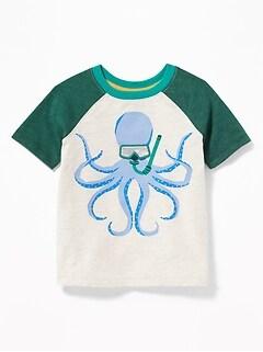 0e58d721 Slub-Knit 3-D Sea Critter Raglan Tee for Toddler Boys