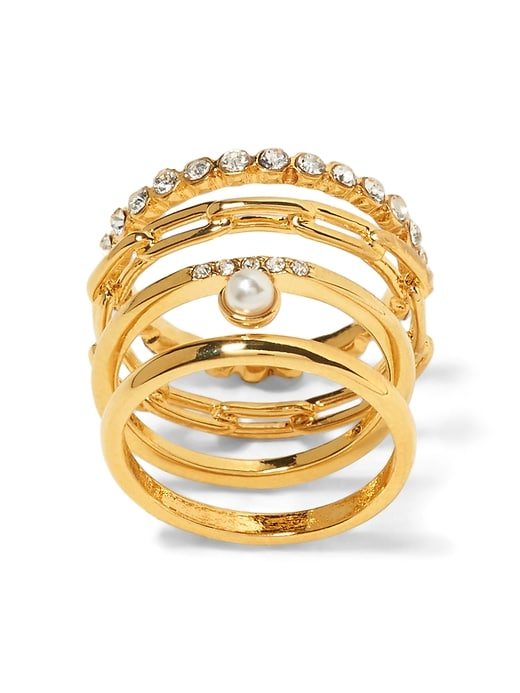 Pearl & Stone Stacked Rings