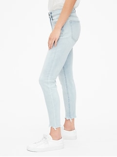 5e6bd48926871d Mid Rise Curvy True Skinny Ankle Jeans with Raw Hem