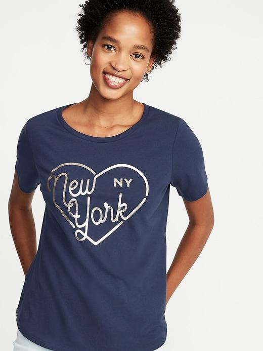 New York-Graphic Tee For Women