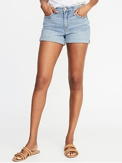 5798fb09522 High-Rise Secret-Slim Pockets Denim Shorts for Women - 3-inch inseam