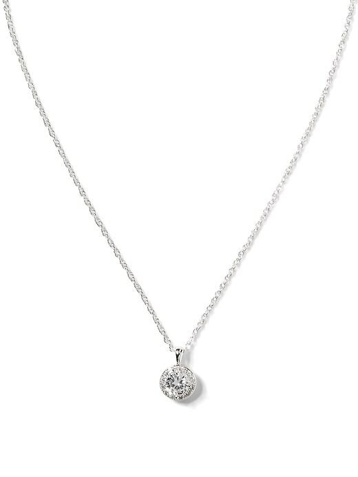 Cubic Zirconia Pendant Necklace