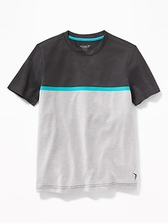 5b7d03105bf Go-Dry Color-Blocked Mesh Tee for Boys