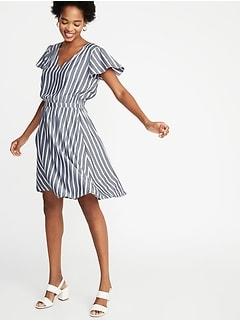 786d7359953 Waist-Defined Striped Dress for Women