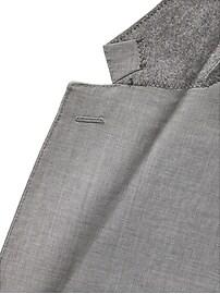 Slim Italian Wool Suit Jacket