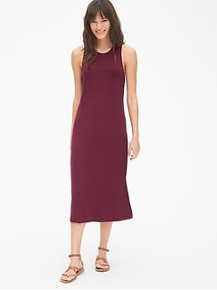 4c8f374820a Twist-Back Tank Midi Dress