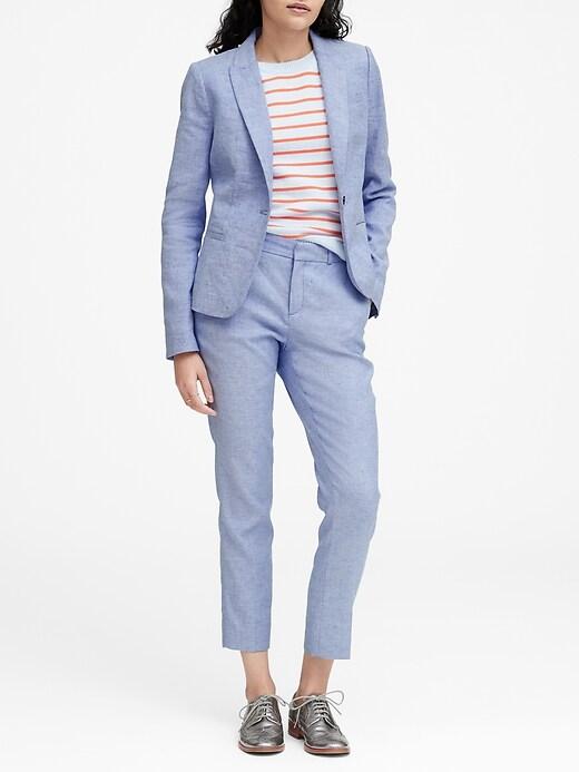 Classic-Fit Linen-Cotton Blazer