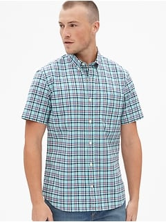 a8cff7222e8 Lived-In Stretch Poplin Short Sleeve Shirt