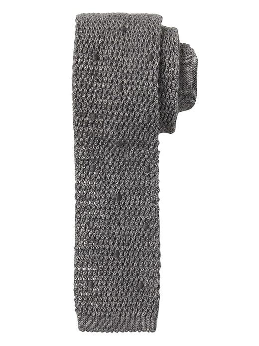 Cravate en tricot NanotexMD à pois ton sur ton