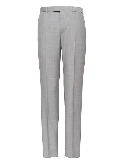 Pantalon de complet en laine italienne, coupe cintrée