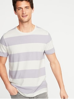 cba9766ef Soft-Washed Striped Crew-Neck Tee for Men