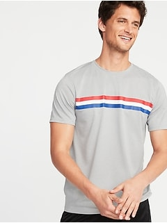 24a6acc6 Go-Dry Cool Eco Multi-Color Chest-Stripe Tee for Men
